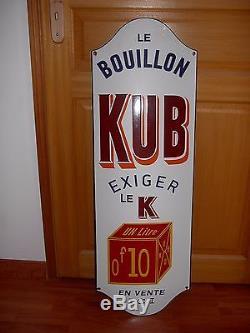 Magnifique plaque émaillée KUB modéle 1mx33cm