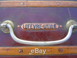 Malle tôle publicité gâteau Lefèvre Utile Boite LU vers 1903