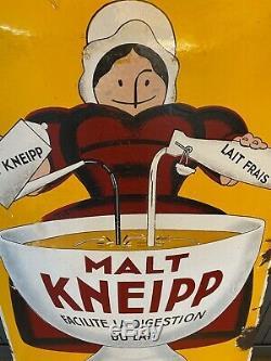 Malt Kneipp Plaques émaillées anciennes