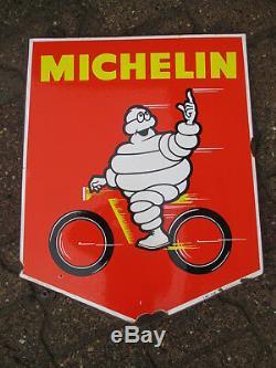 Michelin Vélo rare plaque émaillée