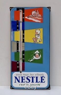 NESTLÉ Thermomètre émaillé / État Superbe.