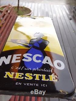 Nescao Plaque Emaillee Ancienne-nestle