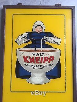 No Plaque Émaillée Malt Kneipp Fixé Sois Verre Rarissime Ferrer Mulhouse