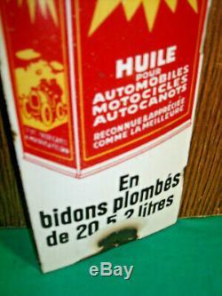 PLAQUE DE PROPRETE EMAILLEE HUILE AUTOL EXTRA bidon oil can pompe pump tanksaule