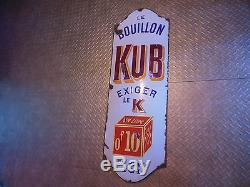 Plaque Emaillee 0.10 Cts Bouillon Kub