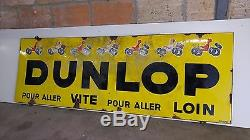Plaque Emaillee Ancienne Dunlop