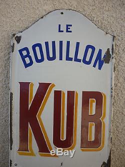 PLAQUE EMAILLEE ANCIENNE LE BOUILLON KUB