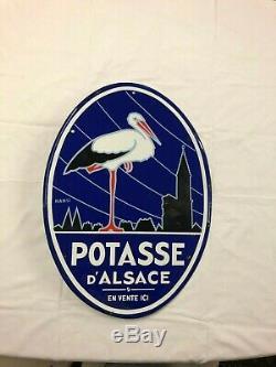 PLAQUE EMAILLEE ANCIENNE POTASSE ALSACE HANSI decoration publicite collection