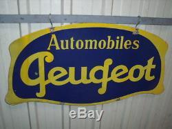Plaque emaillee automobiles peugeot bidon huile oil can for Garage peugeot la madeleine