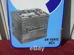 PLAQUE EMAILLEE Batterie, accumulateur FULMEN EPOQUE 1950/60