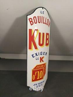 PLAQUE EMAILLEE Bouillon KUB dite Chapeau de gendarme H 50 cm Larg 16.5 cm