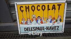 PLAQUE EMAILLEE CHOCOLAT DELESPAUL HAVEZ BELLES COULEURS