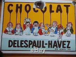 Plaque Emaillee Chocolat Delespaul Havez (eas)
