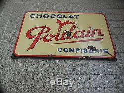 Plaque Emaillee Chocolat Poulain (emaillerie Alsacienne)