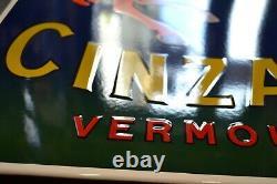 PLAQUE EMAILLEE CINZANO VERMOUTH numérotée enamel sign
