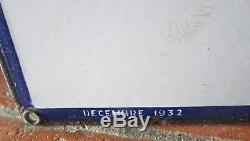PLAQUE EMAILLEE KERVOCYL 1932 Email JAPY