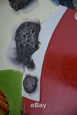 Plaque Emaillee Levure Alsacienne Alsa