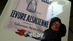 PLAQUE EMAILLEE LEVURE ALSA alsacienne un bon gateau enamel sign