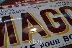 PLAQUE EMAILLEE MAGGI Bouillon Félix Potin enamel sign emailschild