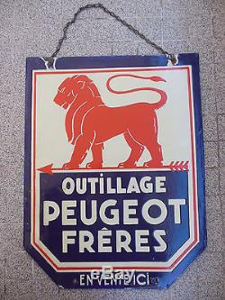 PLAQUE EMAILLEE PEUGEOT OUTILLAGE