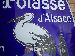 PLAQUE EMAILLEE SELS DE POTASSE D'ALSACE DESSIN DE HANSI