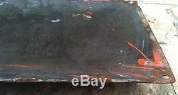 PLAQUE EMAILLEE SUCHARD BOMBEE CINQ FILLETTES SUISSE FRANCE 1902 50 X 25 cm RARE