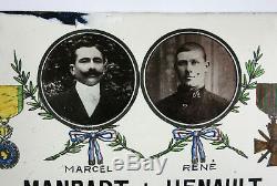 PLAQUE EMAILLÉE WW1, mort pour la France, plaque émaillée ancienne, 82 R I, WW1