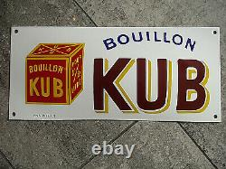 PLAQUE EMAILLEE bombee POCHOIR BOUILLON KUB enameled sign email