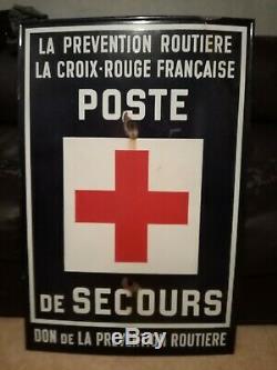 PLAQUE EMAILLEE prévention routière croix-rouge française