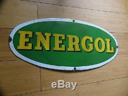 Plaque Emaille Huile Energol, Art France Luynes (bidon D'huile, Garage)