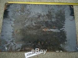 PLAQUE EMAILLée OIL HUILE GARGOYLE MOBILOIL BOMBée ancienne