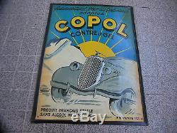 Plaque En Tole Litho De Garage Copol, Gel Radiateur (bidon D'huile)
