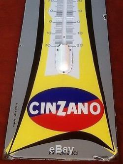 Plaque Émaillée Ancienne Originale Cinzano Thermomètre Publicitaire Bistrot Pub
