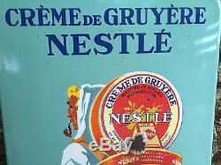 Plaque Émaillée Crème De Gruyère Nestlé