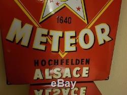 PLAQUE émaillée METEOR, ALSACE, HOCHFELDEN