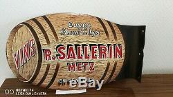 PLAQUE (émaillée) sur le vin (1946 a 1949)