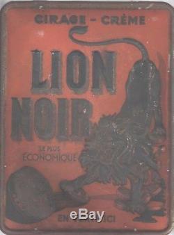 PUBLICITé. TÔLE PUBLICITAIRE CIRAGE-CRèME LION NOIR EN VENTE ICI