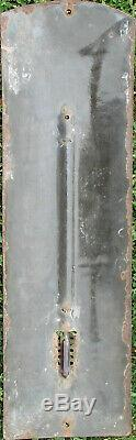 P 865 1 Thermometre Emaille Castrol Bombe Eas Format 14 X 47,5 CM