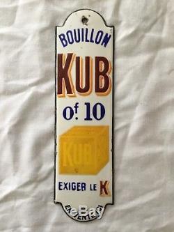 Petite Plaque émaillée publicitaire Bouillon KUB