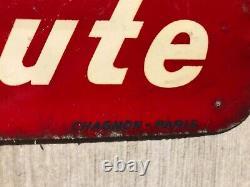 Pin Up esso Max goutte huile bidon plaque tole garage service auto oscar service