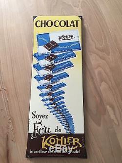 PlaQue Émaillée Chocolat Kohler Rare Top État