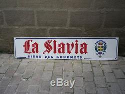 Plaque Ancienne Emaille Biere La Slavia Publi Regie Amiens Havas
