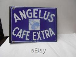 Plaque Emaille Cafe Angelus Rennes Double Face