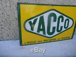 Plaque Emaille Huile Yacco Garage