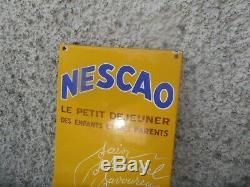 Plaque Emaille Nescao