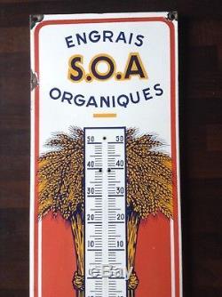 Plaque Émaillée AGRICOLES Engrais Organique SOA ORLÉANS