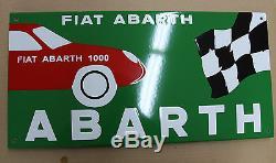 Plaque Emaillée Abarth 60x30 cm