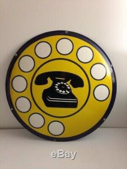 Plaque Emaillee Alte Emailschild Antique Enamel Sign Téléphone