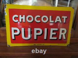 Plaque Emaillee Ancienne Chocolat Pupier Emaillerie Alsacienne Strasbourg