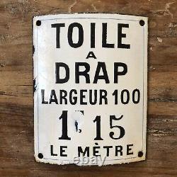 Plaque Emaillee Ancienne De Commerce